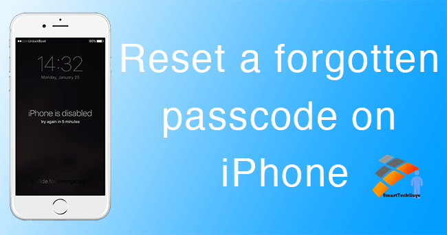 Forget iPhone Passcode