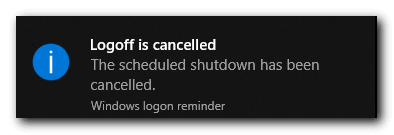 How to Cancel Auto Shutdown in Windows 10