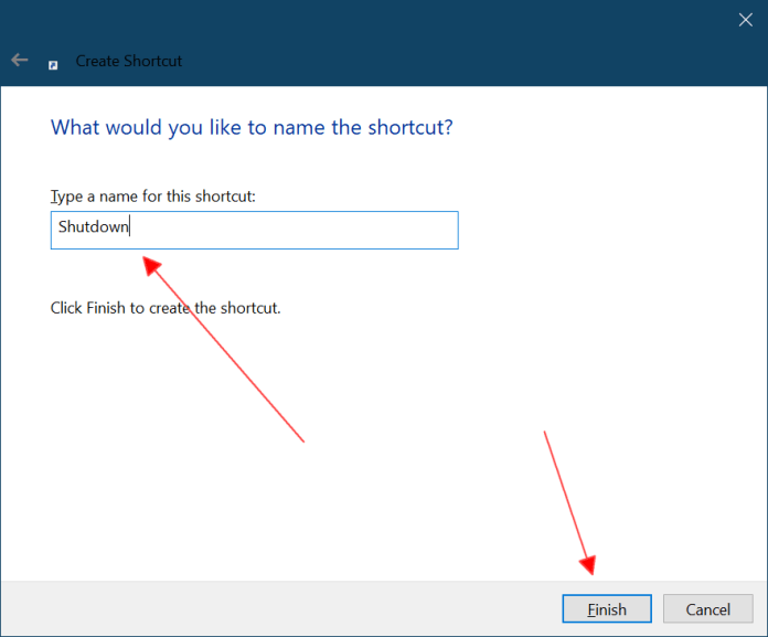 How to Create Windows 10 Shutdown Shortcut