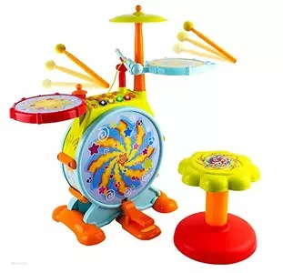 WolVol Electric Big Toy Drum Set Review