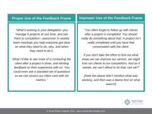 Feedback Frame For Employee Engagement