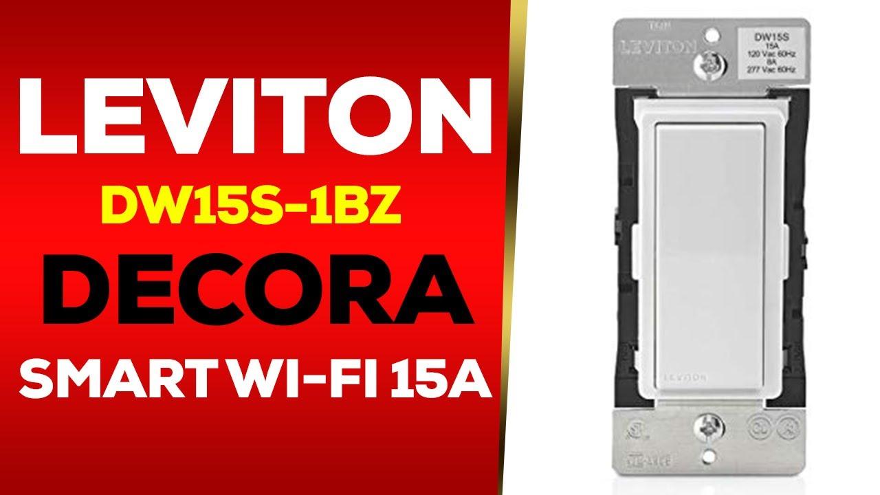 Leviton DW15S-1BZ Decora Smart Wi-Fi 15A Universal LED/Incandescent S...