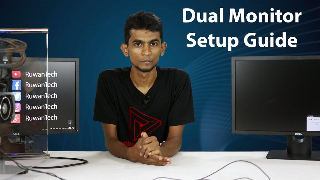 Dual Monitor Setup Guide in Sinhala Sri lanka