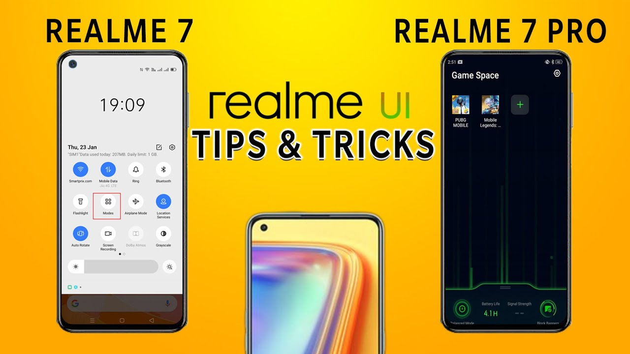 Realme 7 & Realme 7 Pro Tips and Tricks in tamil | Dark Mode | Pr...