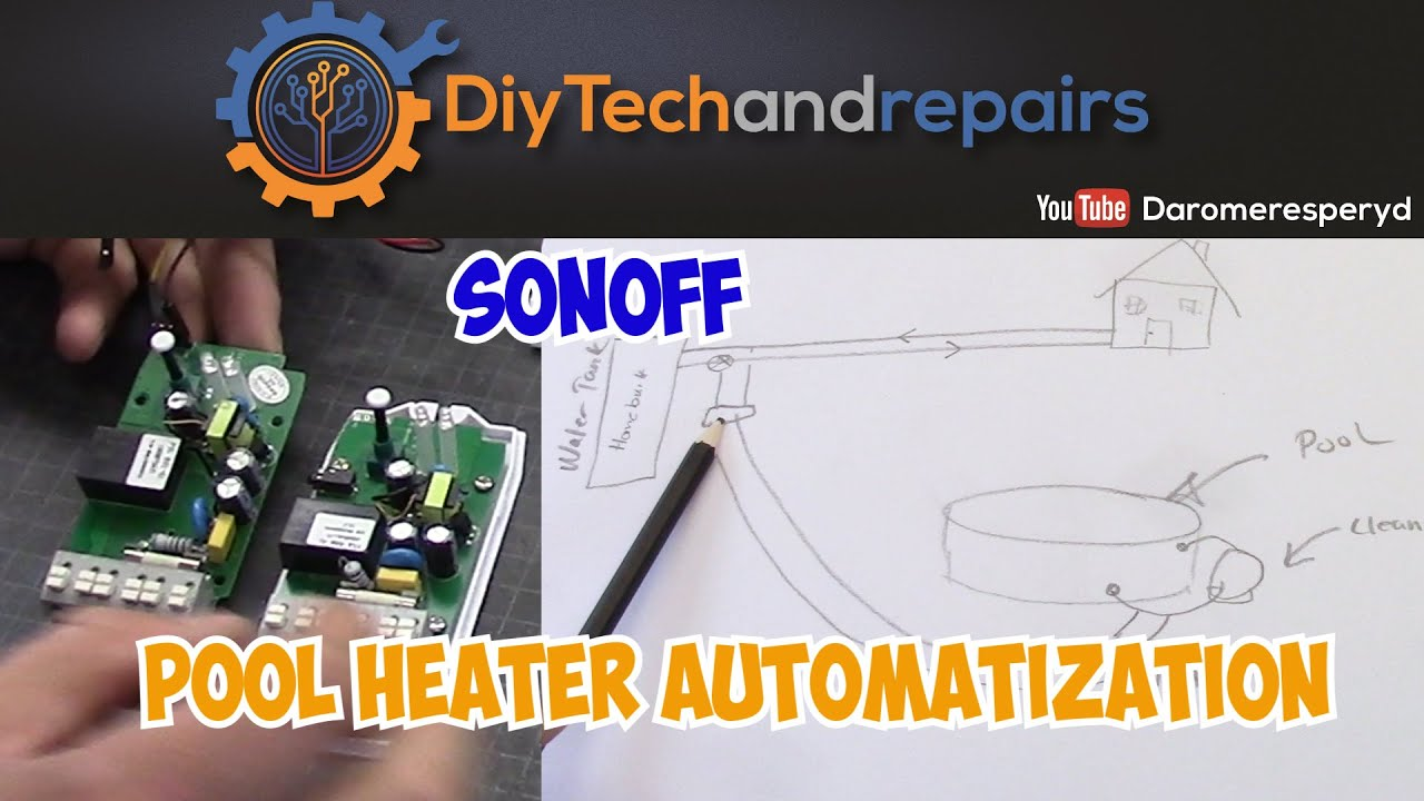 Automatize pool water heating made simple with Sonoff and MQTT!