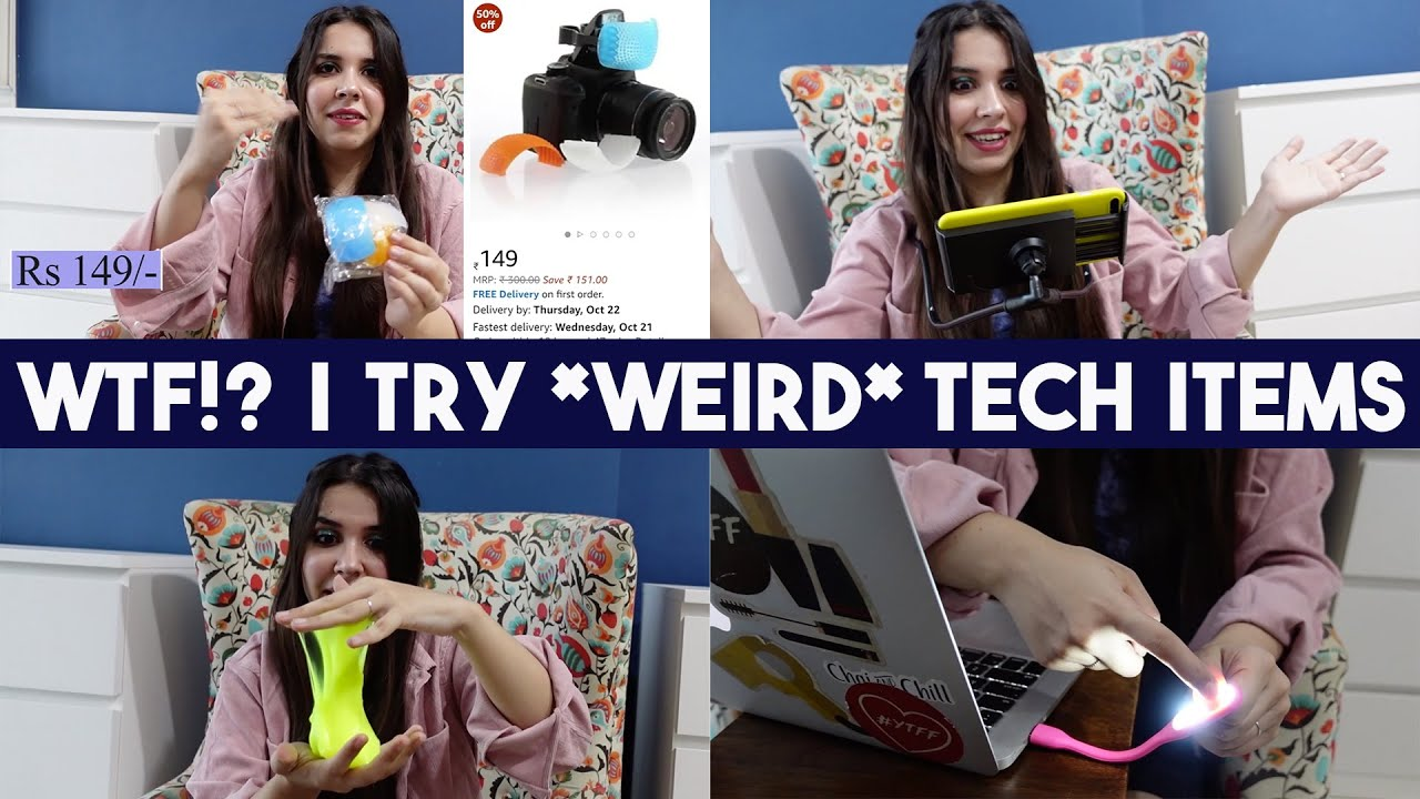 WTF!? I try *WEIRD* Tech Items from Amazon India | Heli Ved