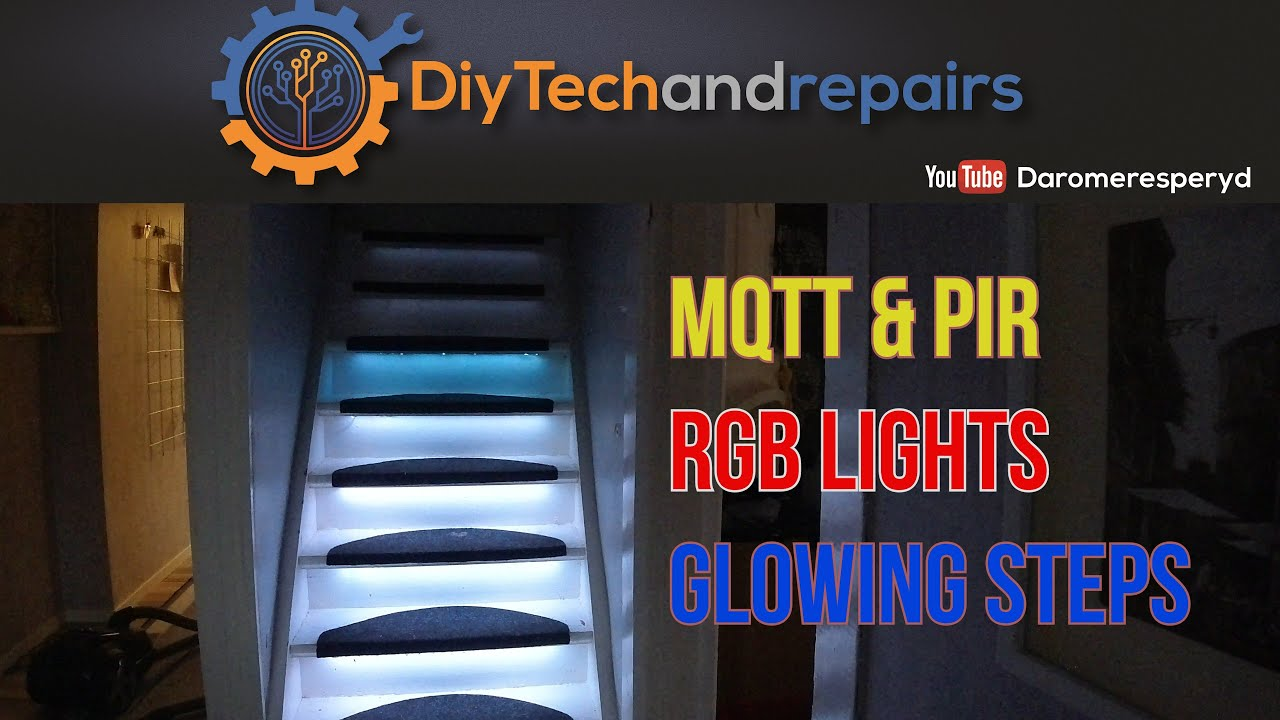 Motion sensor RGB Led light stairs project