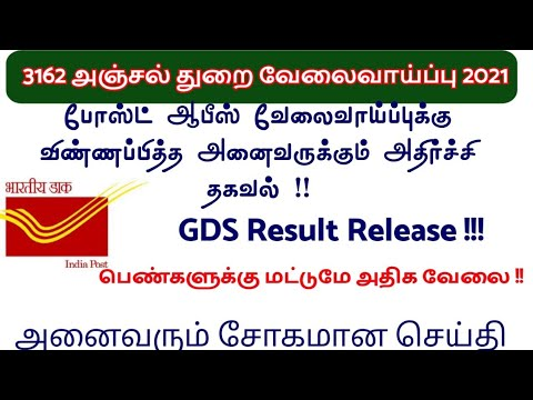 TN post office result important update  2020