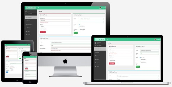 Free React Admin Template Responsive HTML5 Forms
