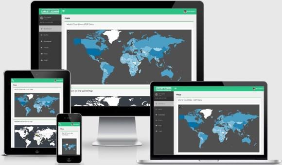 Free ReactJS Admin Template WorldMap Using jVectorMap