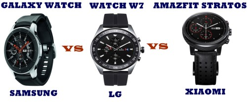 lg watch w7 vs samsung galaxy watch vs amazfit pace 2s compared