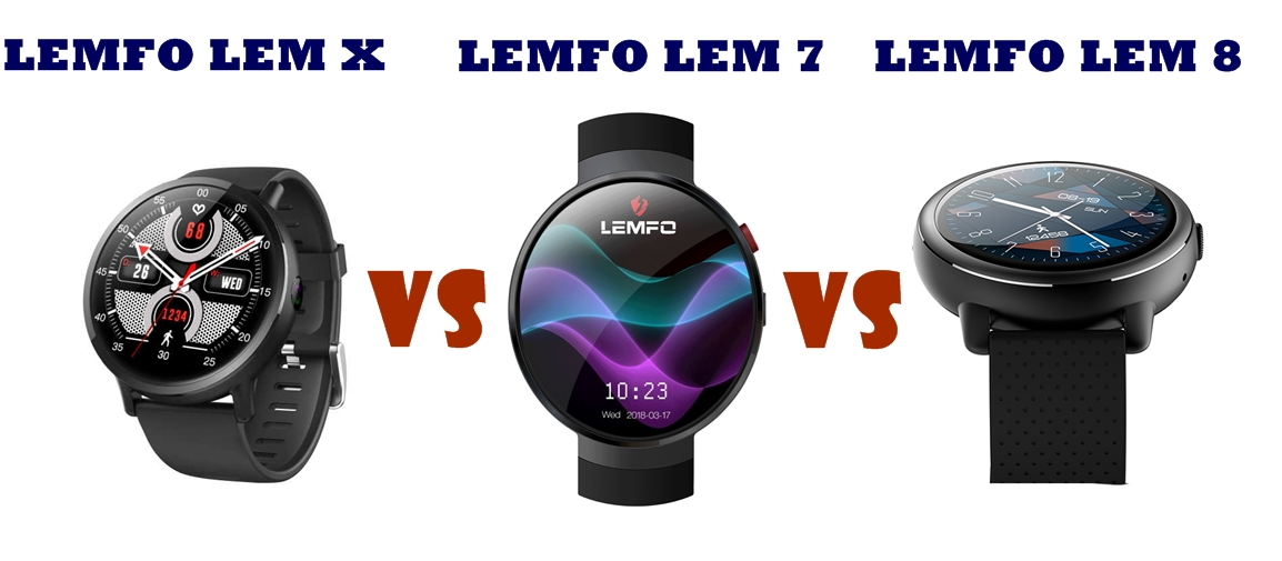 Lemfo LEM 7 vs LEM 8 vs LEM X | SMARTWATCH SERIES