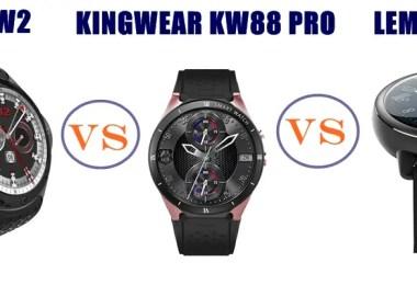 allcall w2 vs kingwear kw88 pro vs lemfo lem 8 compared