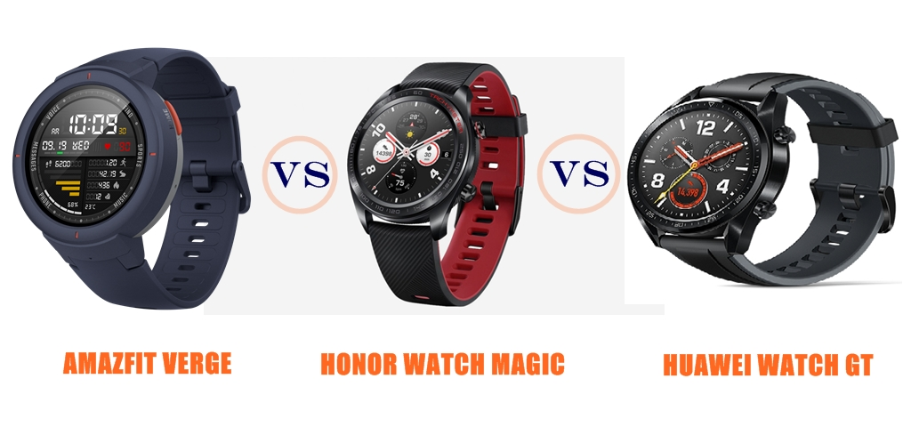 Amazfit Verge vs Honor Watch Magic vs Huawei Watch GT - Which is Better?