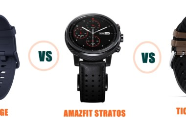 amazfit verge vs stratos vs ticwatch pro specs and features compared