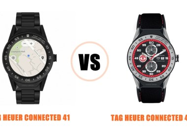 tag heuer connected 41 vs 45 specs compared