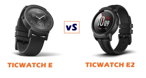 ticwatch e vs e2 compared