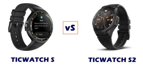 ticwatch s vs s2 compared
