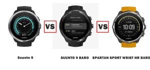 suunto 9 vs 9 baro vs spartan sport wrist hr baro amber compared