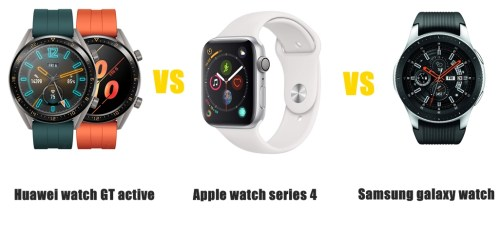 huawei watch gt active vs apple watch series 4 vs samsung galaxy watch