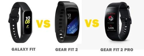 samsung galaxy fit vs gear fit 2 vs fit 2 pro