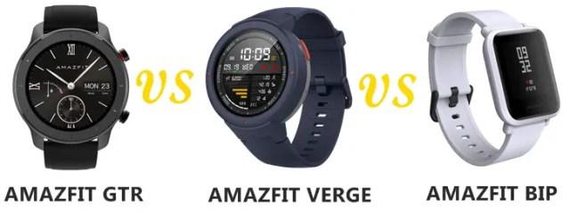 Amazfit GTR vs Verge Vs Bip Compared | SMARTWATCH SERIES