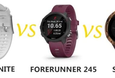 polar ignite vs garmin forerunner 245 vs suunto 5