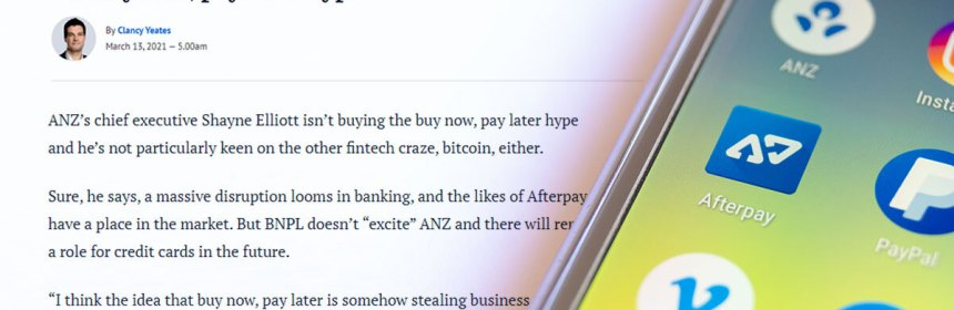 anz boss lashes afterpay in SMH article