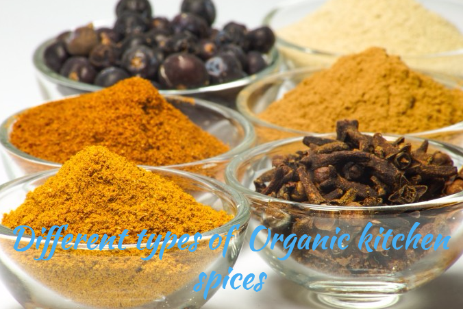 Different Types Of  Organic Kitchen Spices