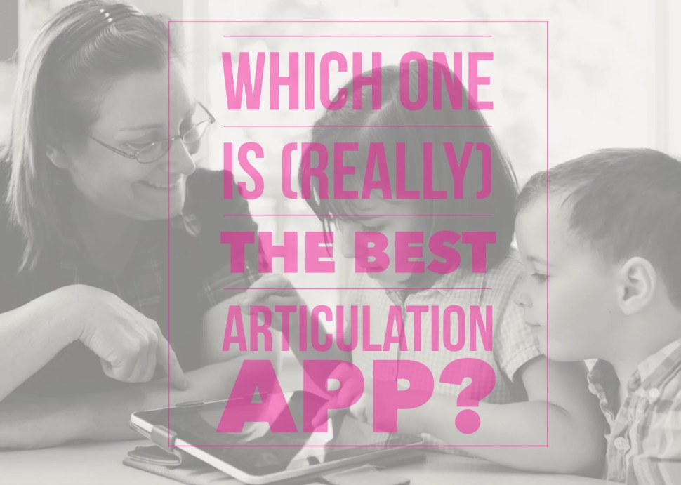 Which one is (really) the best articulation app for iPad?
