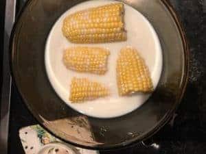 corn in milk