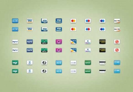 Credit and Debit Card Icons