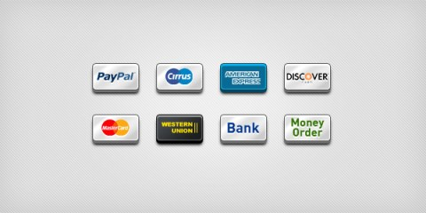 Payment Icons for Ecommerce Website