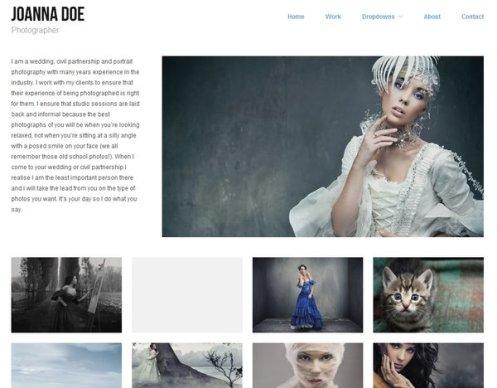 free responsive portfolio wordpress theme 13 15 Free Responsive Portfolio WordPress Theme
