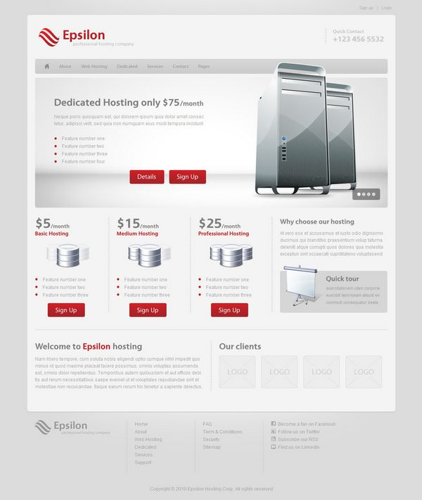 Wordpress Web Hosting Theme
