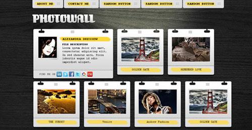 Photowall free html portfolio template