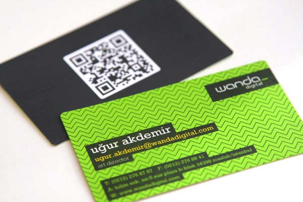 qr code business cards 08 50 Inspirational QR Code Business Cards