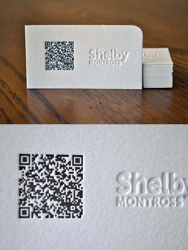 qr code business cards 09 50 Inspirational QR Code Business Cards