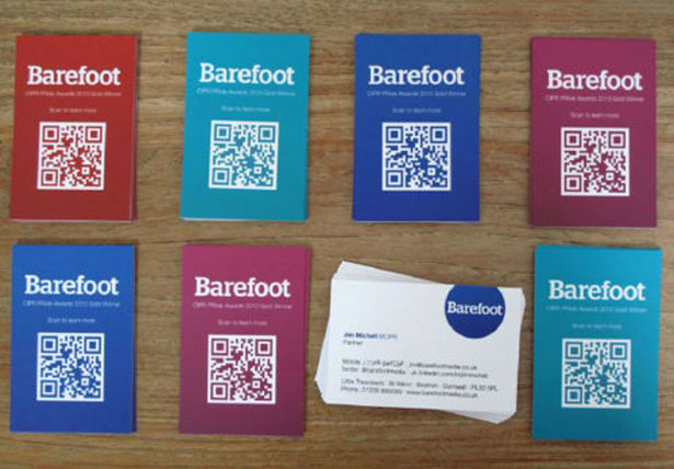 qr code business cards 24 50 Inspirational QR Code Business Cards
