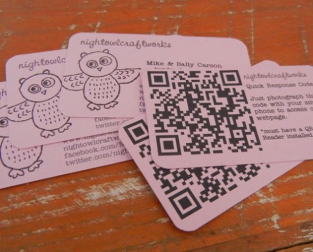 qr code business cards 35 50 Inspirational QR Code Business Cards