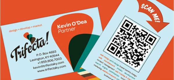 qr code business cards 401 50 Inspirational QR Code Business Cards