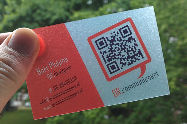 qr code business cards 50 50 Inspirational QR Code Business Cards