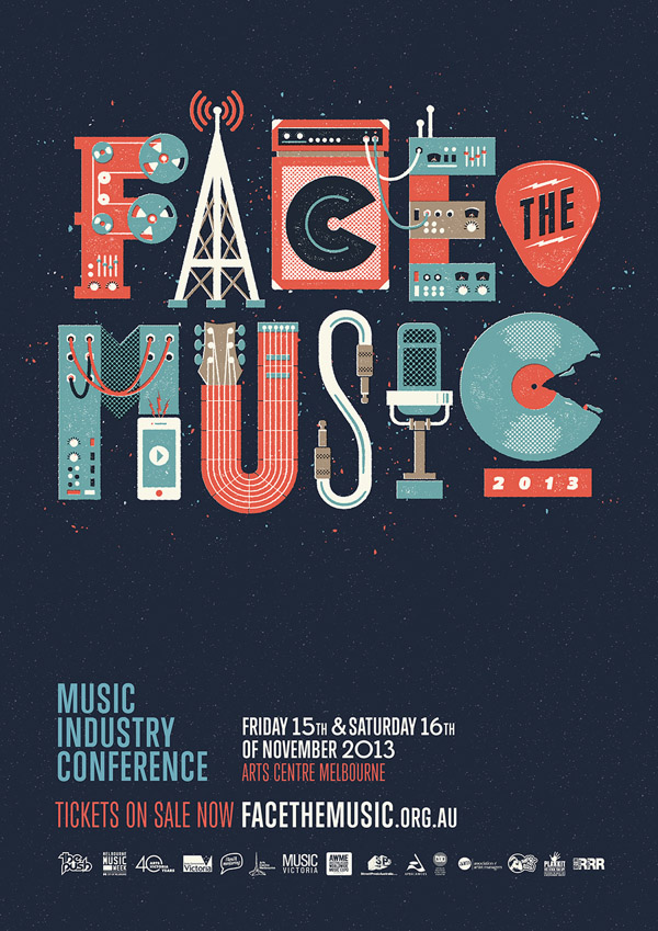 face the music Typography Inspiration #12