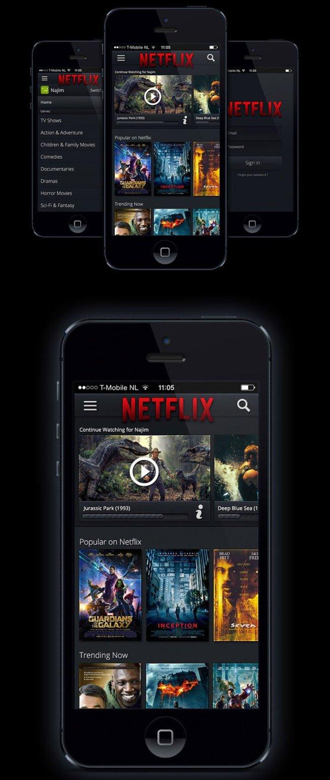 Netflix-iOS-App-Redesign