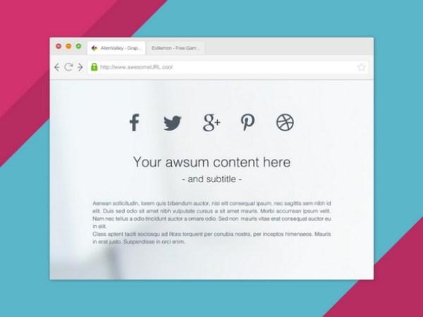 free browser mockup