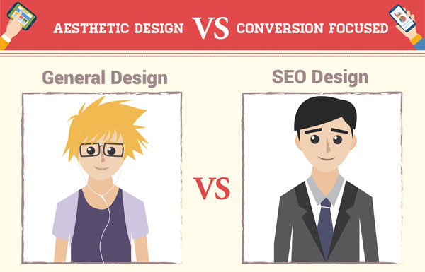 General Web Design VS SEO Design [Infographic]