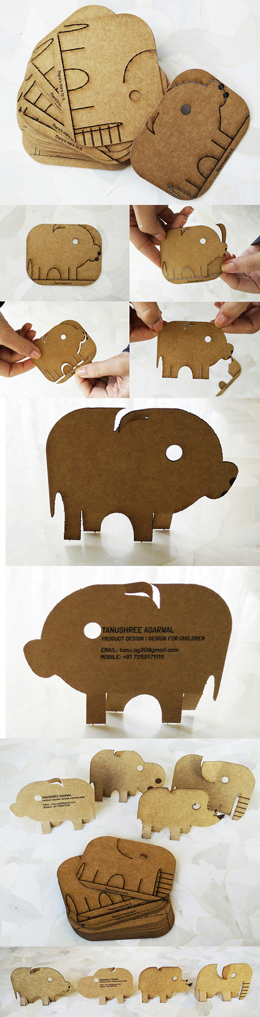 sweet-interactive-laser-cut-animal-shaped-business-cards
