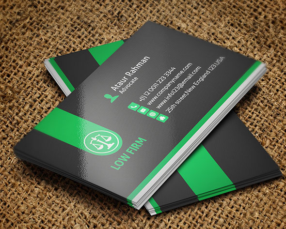Creative Lawyer Business Card Templates - Lawyer business cards templates