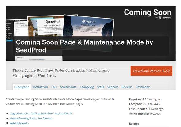 free coming soon WordPress plugin