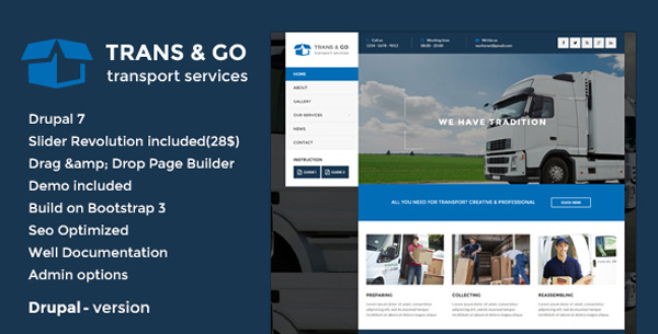 transportation drupal theme 02